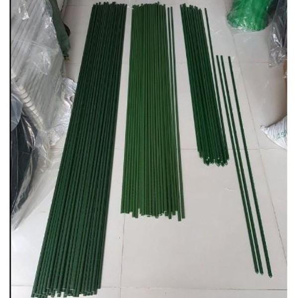 Bộ 10 Ống thép bọc nhựa dùng làm cây đỡ hoa hồng, làm giàn dây leo Phi 11 cao 90 cm