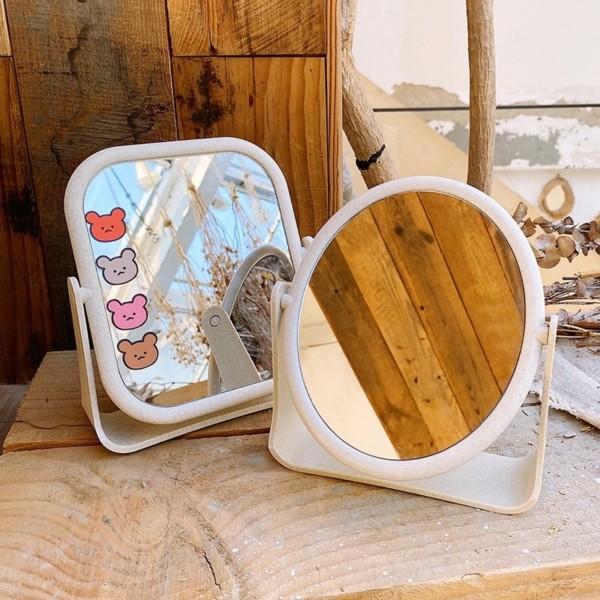 Gương trang điểm 2 mặt , Gương để bàn, Gương trang điểm để bàn hai mặt xoay 360 độ dùng trong gia đình thiết kế xinh xắn nhỏ gọn, Gương soi trang điểm để bàn