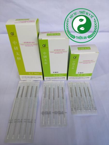 Kim Châm Cứu Thái Hòa- Kim Châm Cứu vô trùng dạng vỉ- Đủ kích thước (Quý khách chú ý bảng chọn size kim)