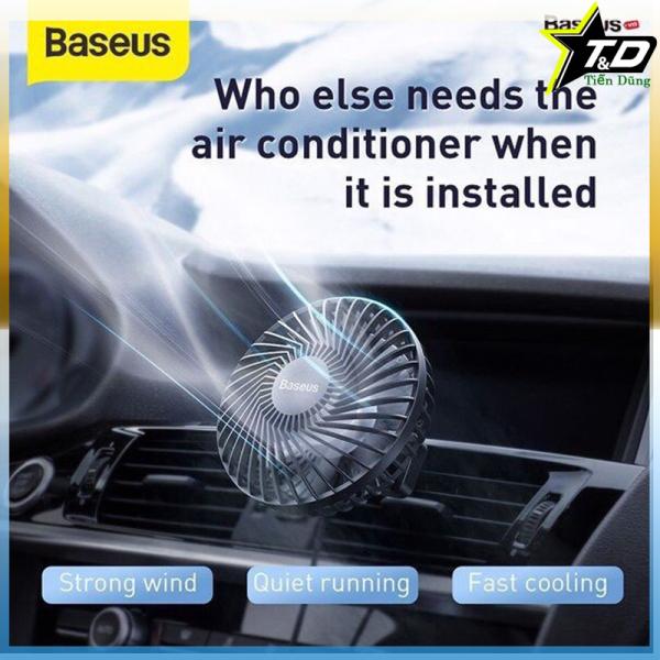 Quạt baseus CXQC-A gắn cửa gió điều hoà ô tô cho hơi lạnh máy mùa hè