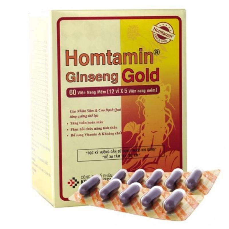 Viên uống Homtamin® Gingseng (Hộp 60 viên)