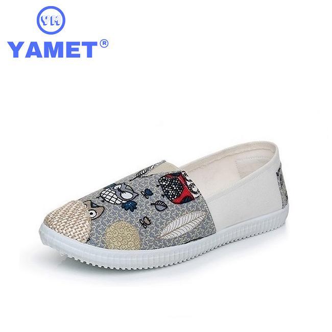 Giày Sneaker  Nữ Painting Siêu Thoáng Yamet YM36G25 Gray