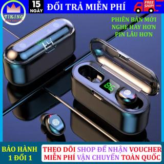 Tai Nghe Bluetooth Amoi F9 Tai Nghe Không Dây F9 Công Nghệ Bluetooth 5.0 Phiên Bản Pro Kén Sạc 2000 Mah Kiêm Sạc Dự Phòng Nút Điều Khiển Cảm Ứng Chống Thấm Nước Chống Bụi Dùng Cho Mọi Điện Thoại thumbnail