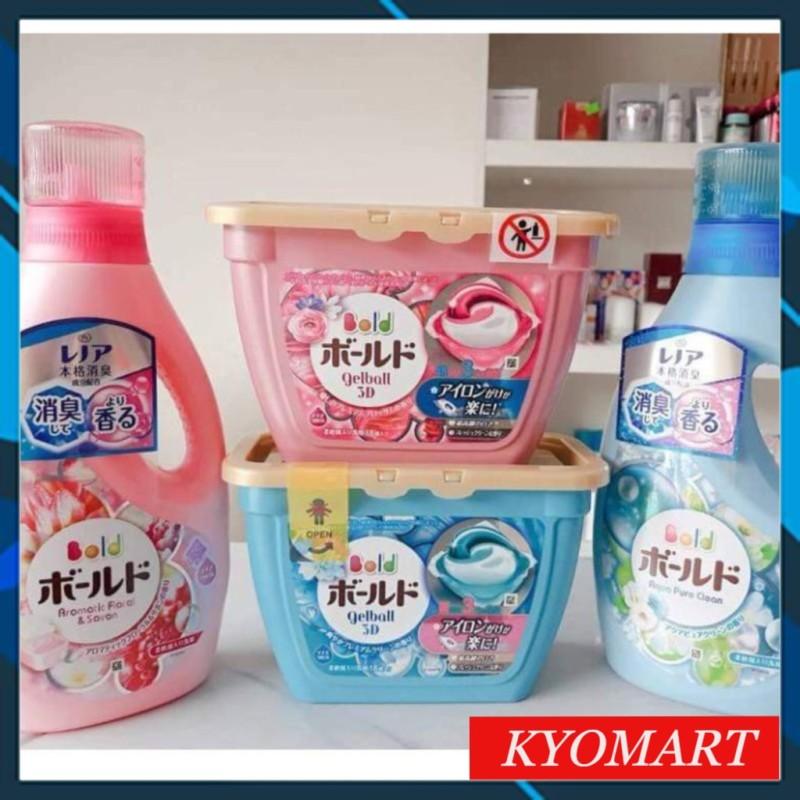[Freeship ] Hộp viên/ Chai giặt xả Gelball Bold 3d p&g Nhật Bản