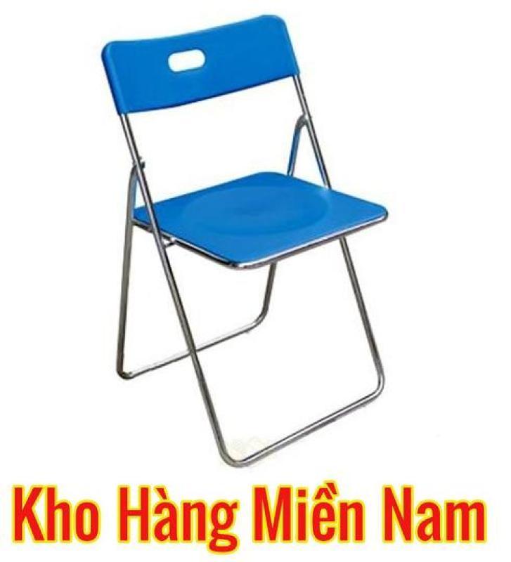Ghế gấp INOX - Ghế xếp văn phòng INOX cao cấp giá rẻ Xuân Hòa GI 22-00 (Màu XANH) giá rẻ