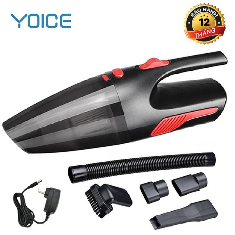 Máy hút bụi, máy hút bụi cầm tay không dây Yoice Y-VCC1- Công suất 120W - Bảo hành chính hãng