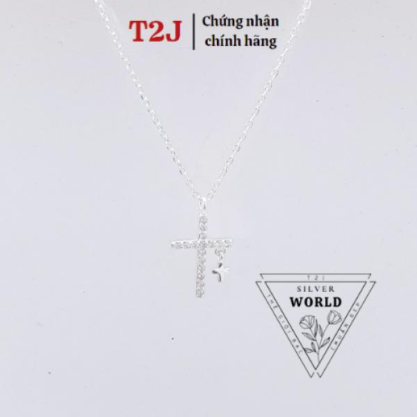 Dây Chuyền Bạc Hình Chữ Thập Nhỏ Nhẹ Xinh - Dây Chuyền Nữ Bạc Ta - Thương Hiệu T2J