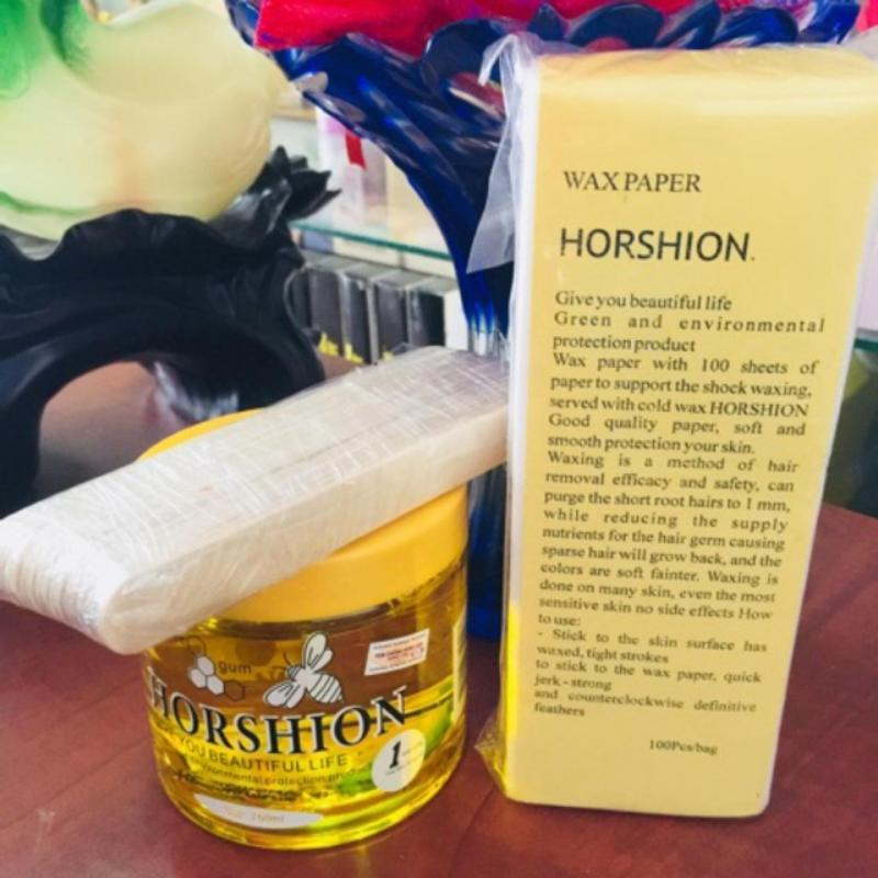 Wax lông Horshion wax lạnh wax lông chân wax nách- Tặng kèm 100 tờ giấy wax
