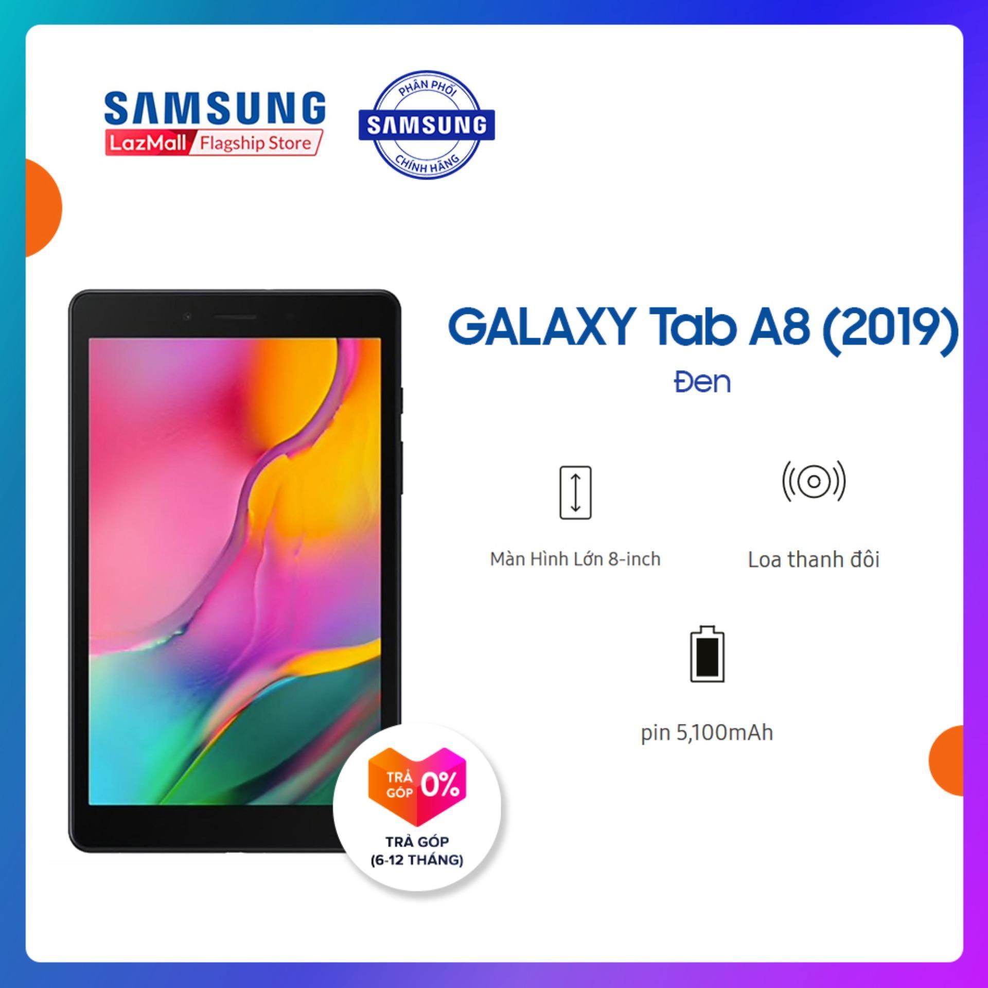 Máy Tính Bảng Galaxy Tab A SM-T295 32GB (2GB RAM) 2019 Đen - Màn Hình 8 Inch, Tỷ Lệ 16:10 Full HD + Trọng Lượng Chỉ 347g Mỏng Nhẹ + Hỗ Trợ Thẻ Nhớ đến 512GB + Pin 5100 MAh - Hàng Phân Phối Chính Hãng. Giá Giảm