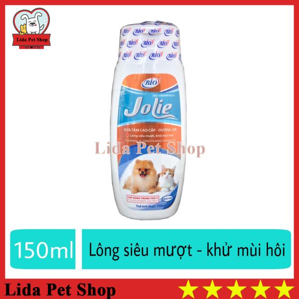 [Lấy mã giảm thêm 30%]HN- Sữa tắm dưỡng lông khử mùi hôi cho chó mèo - Bio Jolie 150ml Làm sạch lông Chống rụng lông - Lida Pet Shop