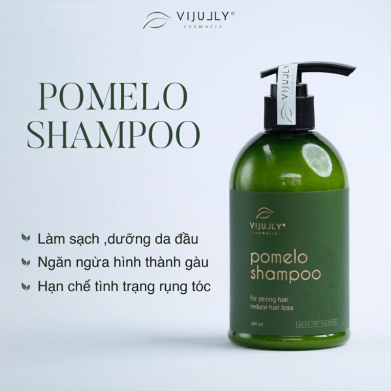 Dầu gội vỏ bưởi Pomelo VIJULLY 280ml mẫu mới giúp ngăn rụng tóc kích thích mọc tóc