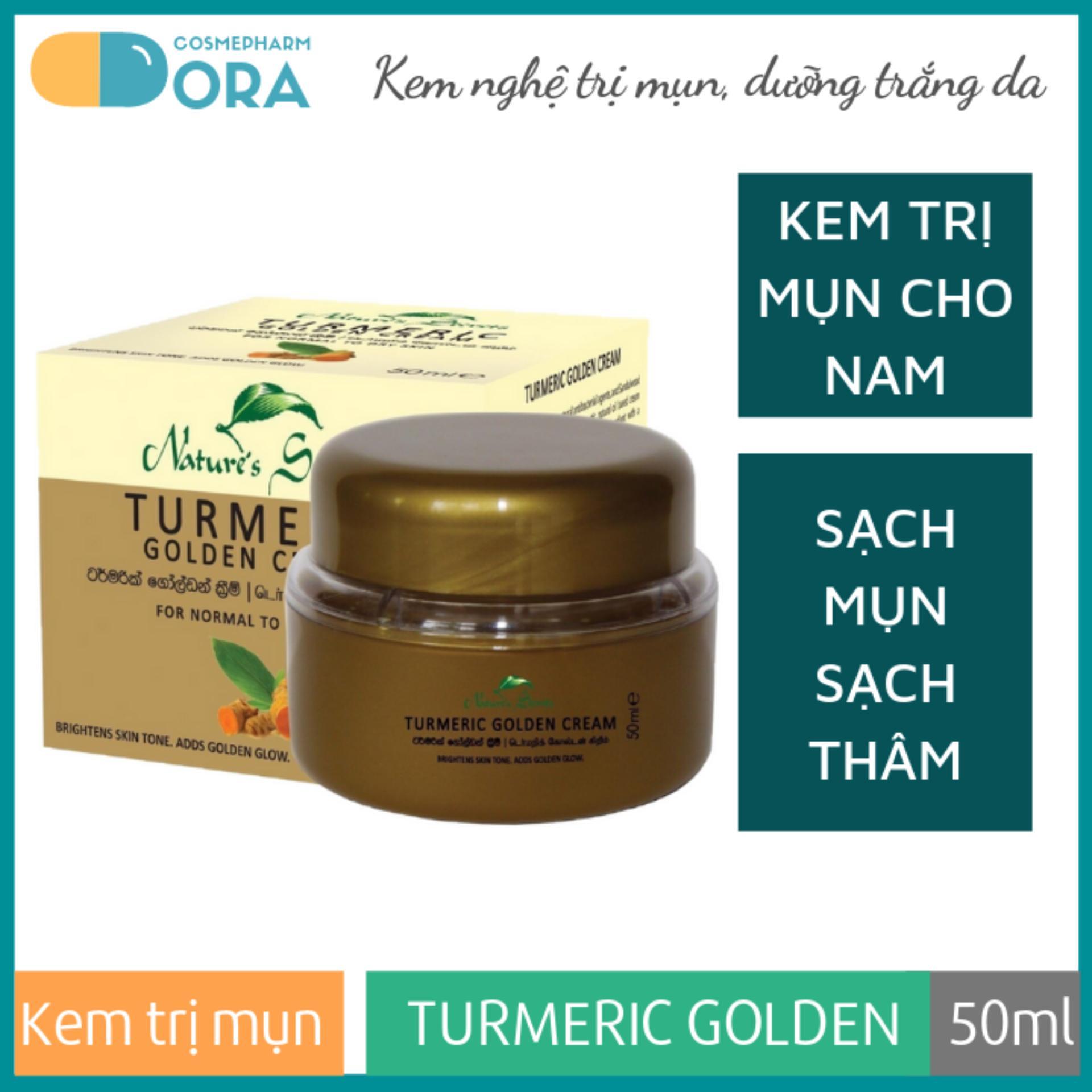 Kem nghệ ngừa mụn thâm và dưỡng trắng da cho nam Turmeric Golden Cream 50ml