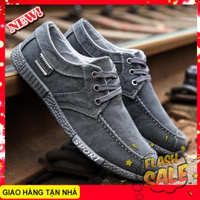 Giày mọi nam vải jean chất liệu cao cấp thiết kế trẻ trung năng động dễ dàng phối trang phục giá rẻ