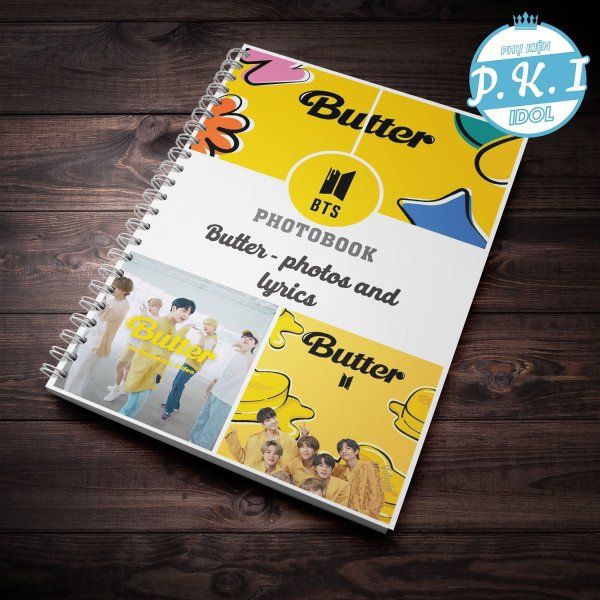Bộ Album ảnh Photobook in hình nhóm nhạc BTS- Album Butter