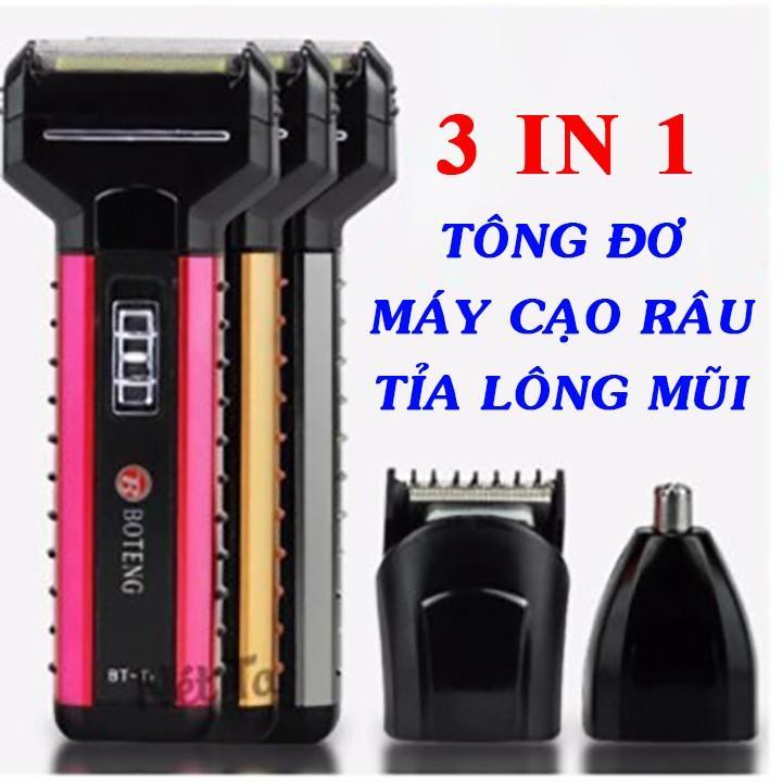 Máy cạo râu BOTENG BT-T1 kiêm tông đơ cắt tóc tỉa lông mũi 3 trong 1
