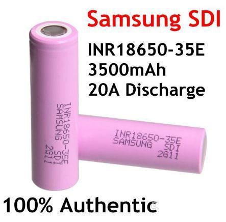 Pin sạc Samsung INR18650-35E 3500mAh xả 20A cho quạt mini, đèn pin, máy khoan cầm tay...