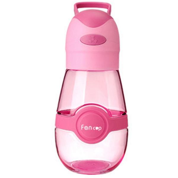 2 In 1 Usb Rechargeable Ultra-Quiet Portable Cup Fan Cooling Fan Water Bottle Pink