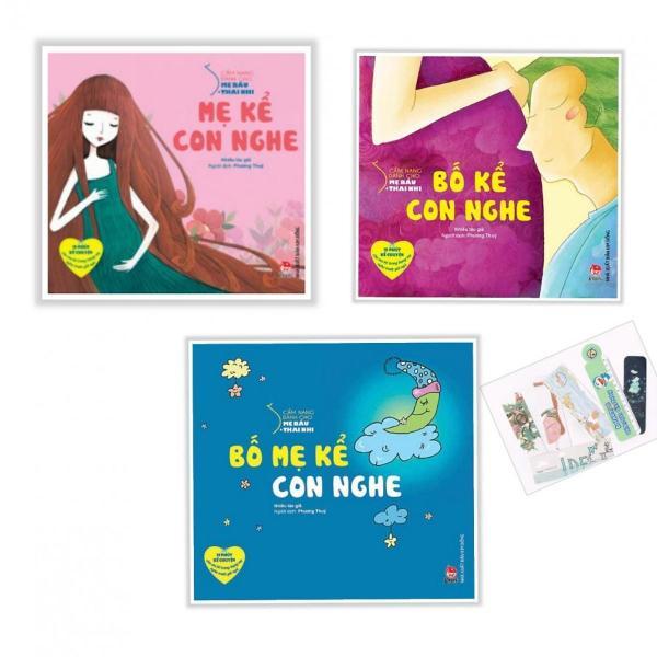 Mua Sách- truyện kể thai giáo (bộ 3 cuốn) Bố mẹ kể con nghe- Mẹ kể con nghe- Bố kể con nghe