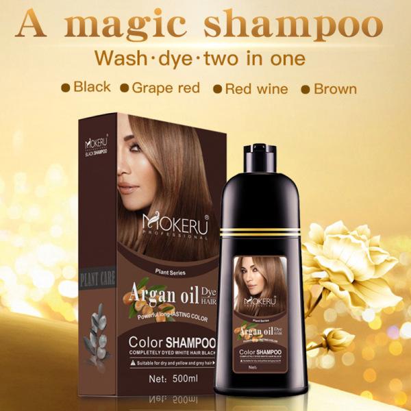 Dầu gội MOKERU trắng tóc chiết xuất thảo dược giải quyết tóc bạc trong 5 phút dung tích lớn 500ml không mùi không hăng thích hợp cho người tóc bạc trắng - INTL giá rẻ