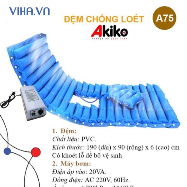 Đệm chống loét khoét lỗ Akiko A75 dùng cho giường Akiko