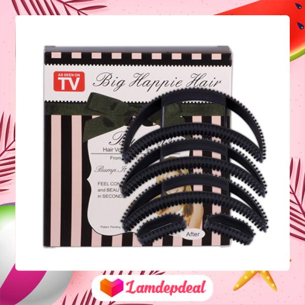 ♥ Lamdepdeal - Bộ đệm phồng tóc 5 kẹp - Đệm phồng tóc công chúa, đệm phồng tóc đỉnh - Dụng cụ làm tóc nhập khẩu