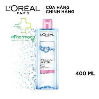 Nước tẩy trang L Oreal HỒNG dưỡng ẩm cho da nhạy cảm - L Oreal Paris 3-in-1 Micellar Water 400ml thumbnail