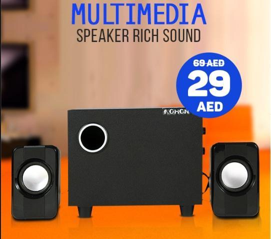 Giá [CỰC HOT 2020] Bộ 3 Loa Máy Tính/ Vi Tính Cao Cấp Âm Bass Echo Hay - Nhỏ Gọn - loa vi tính - loa vi tính giá rẻ - loa máy tính giá rẻ - loa để bàn máy tính - loa mini - loa karaoke NOHON HL-303 2.1