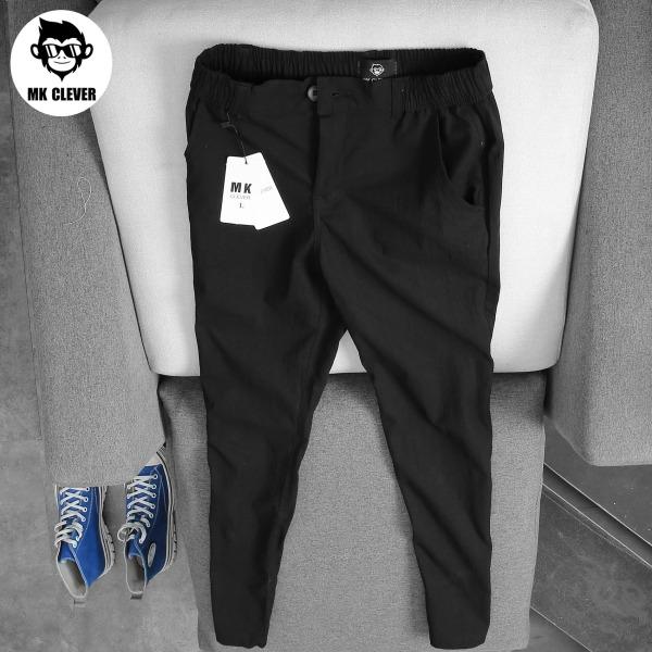 Quần đũi slimfit - Quần nam chất liệu đũi co giãn, mặc mát - Quần cạp chun, có đỉa thắt lưng- Quần thời trang MK Clever - QĐX04