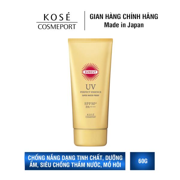 Chống nắng Kosé Cosmeport Suncut Perfect UV Protect Essence Super Waterproof SPF 50+/PA++++ 60g nhập khẩu