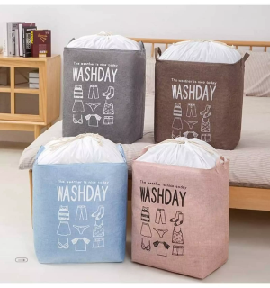 [Chất Lượng Cao 100%] Túi đựng quần áo chăn màn cao cấp cỡ lớn có khung thép chắc chắn, Túi đựng quần áo chăn màn cỡ lớn có khung thép chắc chắn - Giỏ đựng mùng mền, túi đựng quần áo vải chứa đồ thumbnail