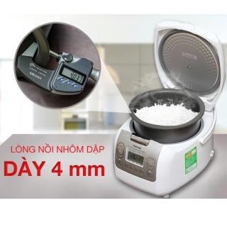 Nồi cơm điện tử Toshiba 1.8 lít RC-18NMFVN(WT)mới,Lồng nồi hợp kim nhôm phủ chống Diamond Titanium dính dày 4mm Chức năng nấu Nấu cơm,Hâm nóng,Hâm soup,Nấu cháo,Nấu súp,Nấu nhanh,Luộc trứng, Hấp,Lên men,Làm bánh-BH 12 tháng thumbnail