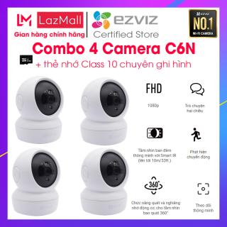 [Làm việc & tư vấn 24 7] Combo 4 Camera Wifi EZVIZ C6N 1080P trong nhà Wireless không dây, hồng ngoại ban đêm 10m, theo dõi thông minh thumbnail