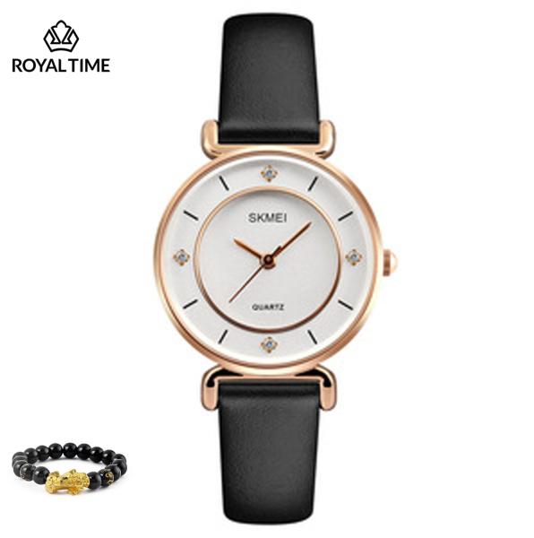 Đồng hồ nữ SKMEI 1330 chính hãng dây da cao cấp SK1330 - Fullbox - Tặng gói bảo hành 12 tháng - tặng vòng tay cao cấp - gói hàng cẩn thận đúng mẫu