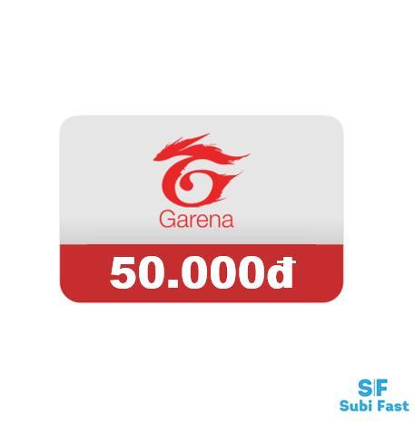 Thẻ Garena 50K - Nhận Siêu Nhanh [sms] Đang Trong Dịp Khuyến Mãi