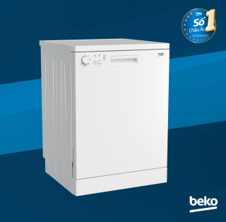 Máy rửa chén Beko13 bộ DFN05311W ( Trắng ) - Hệ thống sấy tĩnh điện - Công suất 13 bộ - Nhập khẩu nguyên chiếc từ Châu Âu - Hàng chính hãng bảo hành 2 năm tiêu chuẩn