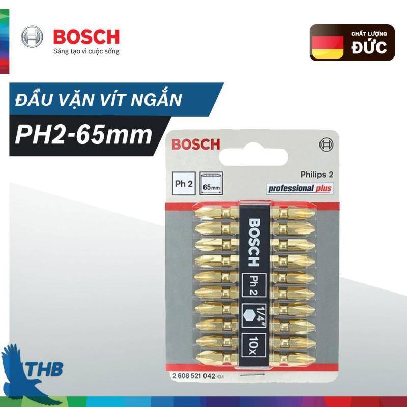 Đầu Vặn Vít Ngắn Bosch (PH2-65mm)-2608521042
