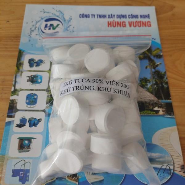 Clorine dạng viên 20gam - 1kg Hóa chất Clorine dạng viên xử lý nước bể bơi - Clo viên