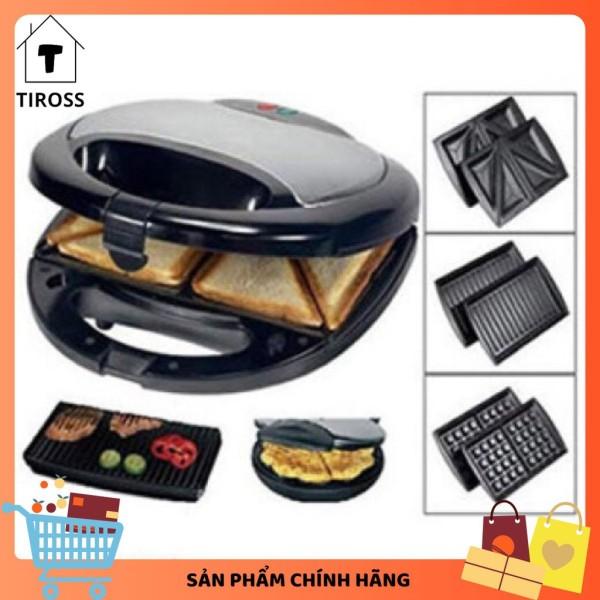 Kẹp nướng sanwich 3 trong 1 Tiross TS513, 3 Khay, Sản Phẩm Chính Hãng, Bảo Hành 12 Tháng