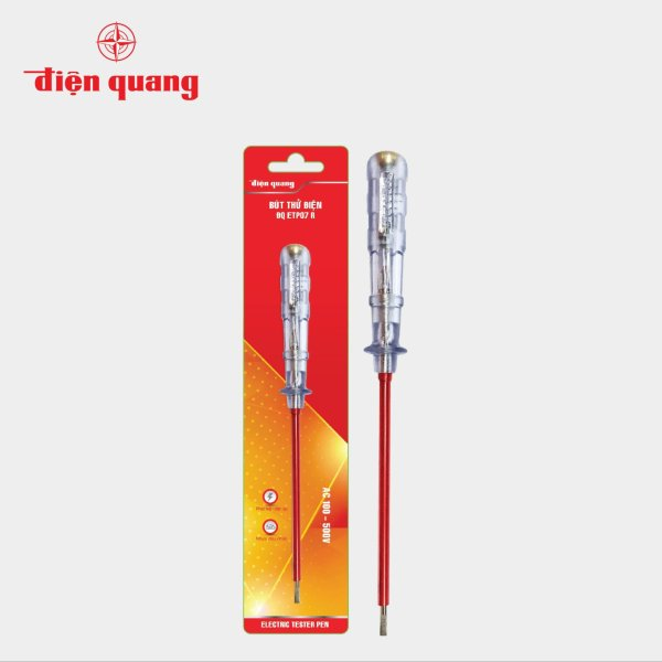 Bảng giá Bút thử điện Điện Quang ĐQ ETP07 R (Đầu vít dẹp, 215 mm, màu đỏ)