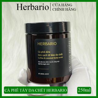 [SÁNG MỊN DA] Cà phê tẩy da chết làm sạch da chết toàn thân Herbario 250ml giúp da sáng mịn, đều màu hơn thumbnail