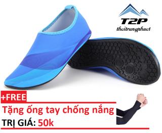 Giày thể thao đi biển - giày lội nước + Tặng kèm găng tay chống nắng trị giá 50k thumbnail