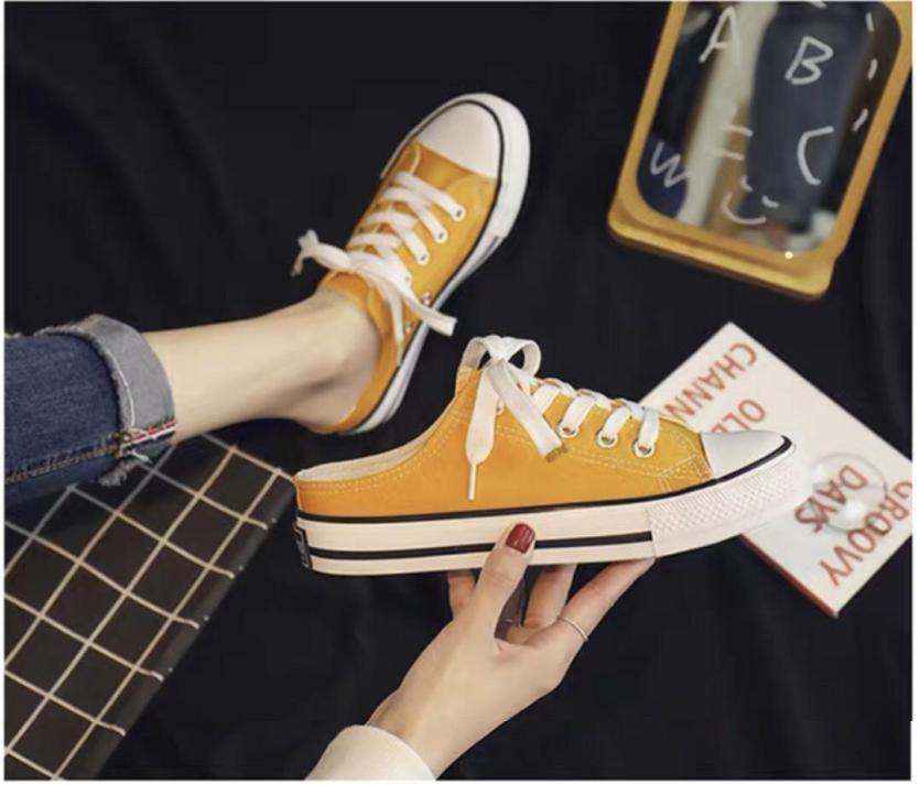 (Video) Giày thể thao nữ, giày sneaker nữ, sục nữ slipon sục trơn CV thời trang ulzzang Hàn Quốc giá rẻ