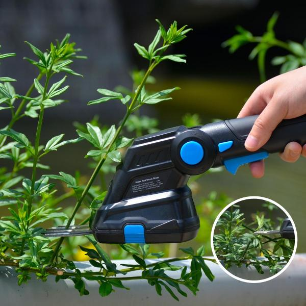 PROSTORMER Electric Hedge Trimmer 2 in 1 3.6V USB Cordless Household Trimmer Rechargeable Weeding Shear Pruning Mower