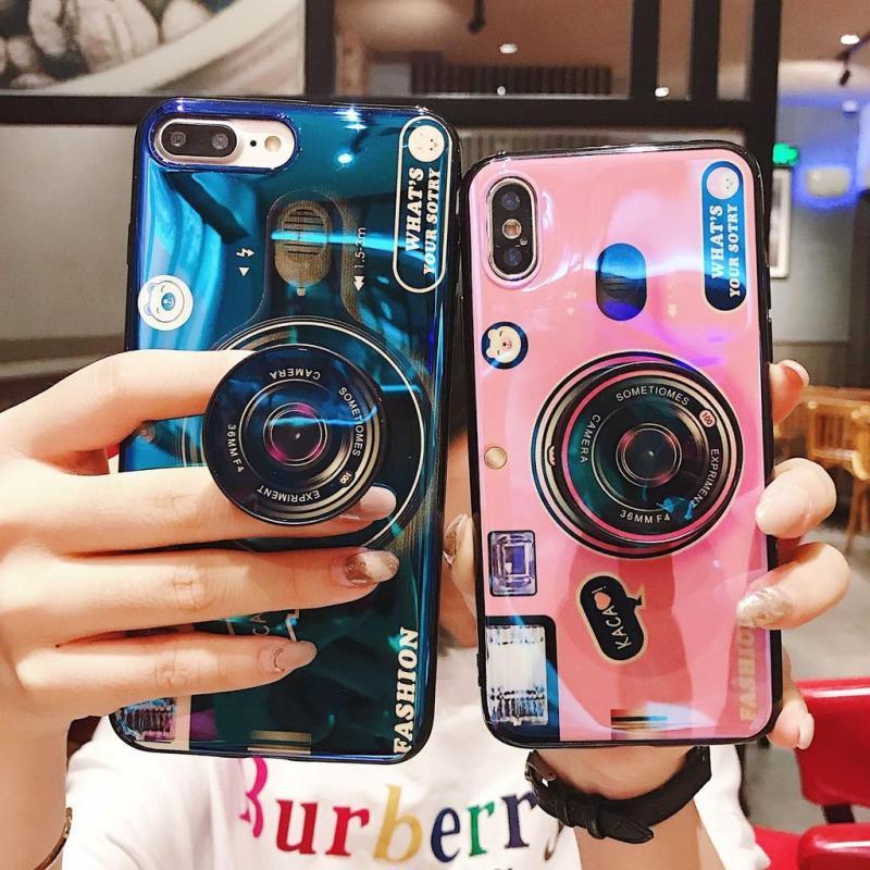 Giá Ốp lưng 3D hình máy ảnh kèm Iring dành cho điện thoại iPhone 6  6S  6Plus 7 G  8G 7P  8Plus X XS XR XSMAX