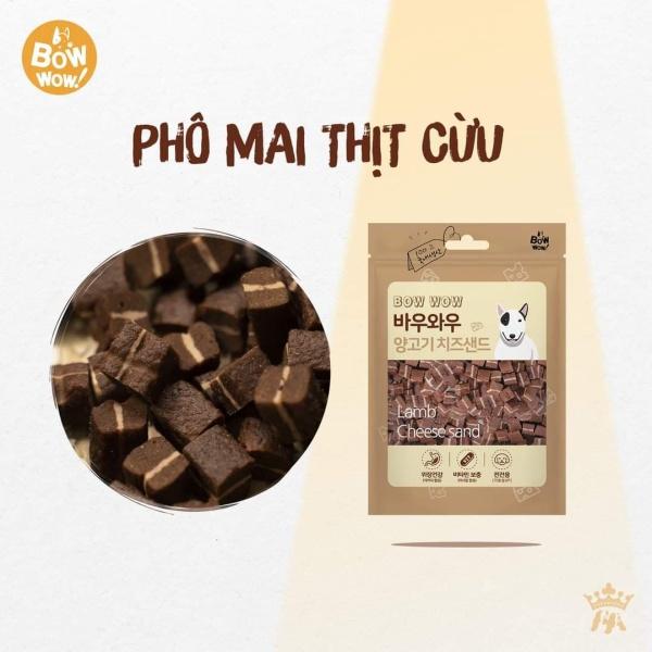 [HCM]Bánh thưởng cho chó Thịt cừu phô mai Hàn Quốc Bowwow Lamb Cheese sand 100g