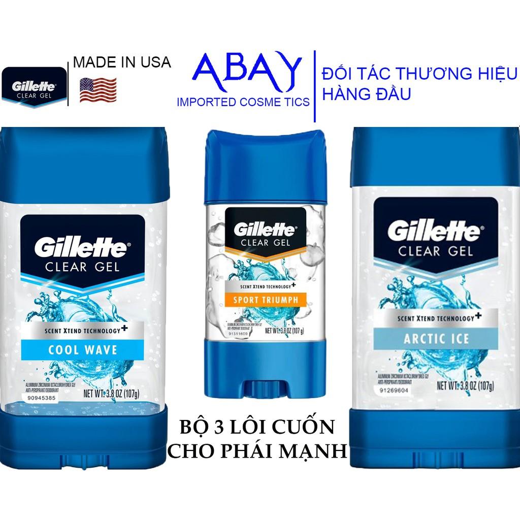 Lăn Khử Mùi Dành Cho Nam Gillette Mỹ 107g Cool Wave 5in1 | Artic Ice | Sport Triumph - Hàng Nhập Khẩu