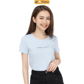 Áo phông nữ YODY cổ tròn form rộng chất vải cotton thoáng mát, áo thun trơn ngắn tay nhiều màu có cả áo đôi PPN4134 thumbnail