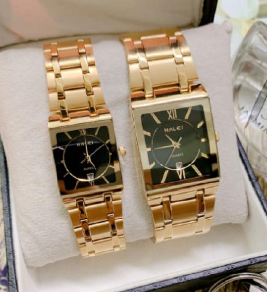 đồng hồ nam nữ - đồng hồ cặp halei chính hãng bán chạy