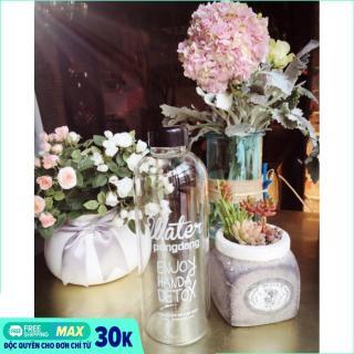 Bình nước Pongdang Detox 1000ml kèm túi vải Canvas cực đẹp thumbnail