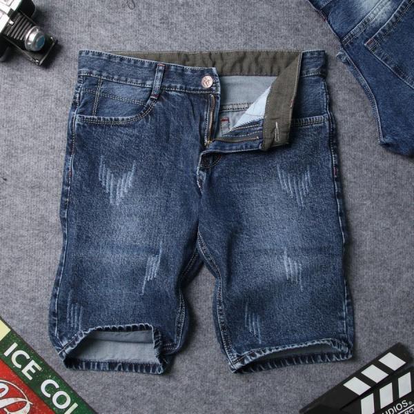 Quần short jean nam xanh đen vải dày xước đẹp SG413 Saosaigon  quần short nam  quần nam